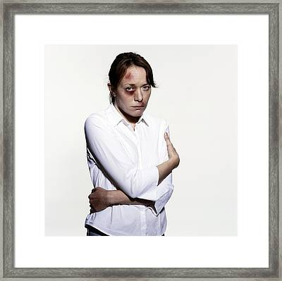 Domestic Violence Framed Print by Kevin Curtis