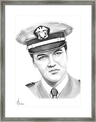 Elvis Presley Framed Print by Murphy Elliott