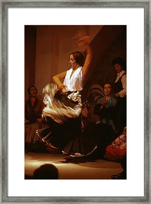Flamenco Dancer Framed Print by Carl Purcell