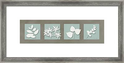4 Flowers Framed Print by Nomi Elboim