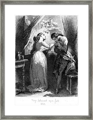 Goethe: Werther Framed Print by Granger