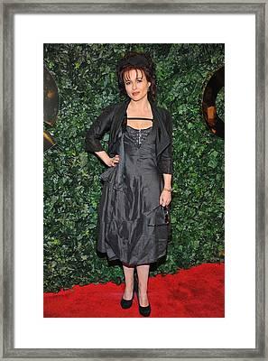 Helena Bonham Carter At Arrivals Framed Print by Everett