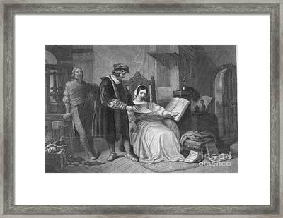 Johannes Gutenberg, German Inventor Framed Print by Photo Researchers