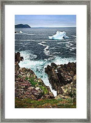 Melting Iceberg Framed Print by Elena Elisseeva
