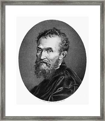 Michelangelo (1475-1564) Framed Print by Granger