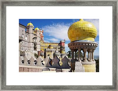 Pena Palace Framed Print by Carlos Caetano