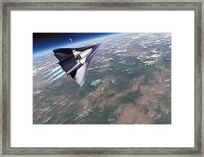 Saenger-horus Spaceplane, Artwork Framed Print by Detlev Van Ravenswaay
