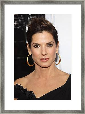 Sandra Bullock At Arrivals For The Framed Print by Everett
