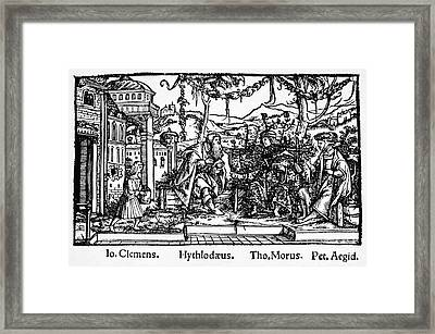 Sir Thomas More (1478-1535) Framed Print by Granger