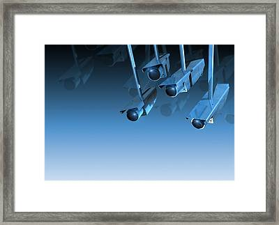 Surveillance, Conceptual Image Framed Print by Victor Habbick Visions