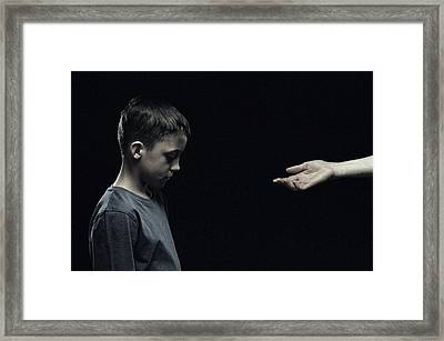 Unhappy Boy Framed Print by Kevin Curtis