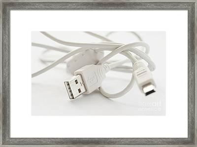 Usb Cable Framed Print by Blink Images