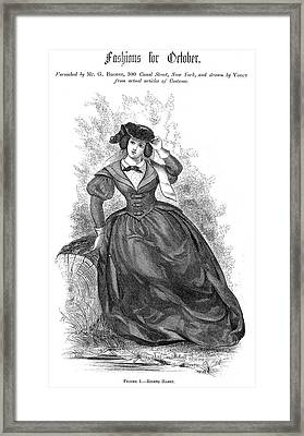 Womens Fashion, 1860 Framed Print by Granger