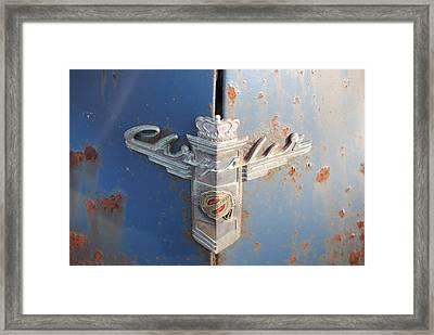 48 Chrysler Hood Emblem Framed Print by Gordon H Rohrbaugh Jr