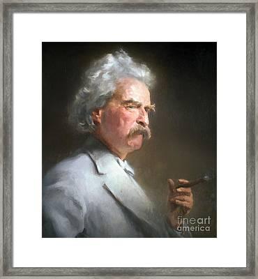 Samuel Langhorne Clemens Framed Print by Granger