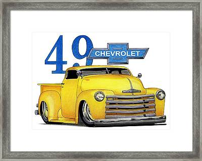 49 Chevy Framed Print by Lyle Brown