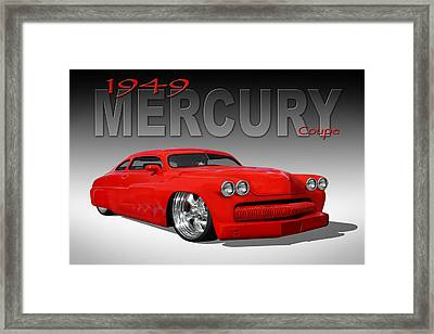 49 Mercury Coupe Framed Print by Mike McGlothlen