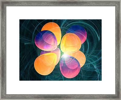 4f2 Electron Orbital Framed Print by Laguna Design