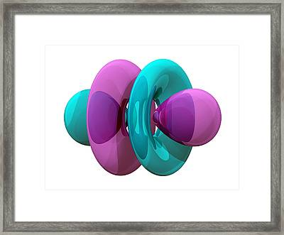 4fz3 Electron Orbital Framed Print by Laguna Design
