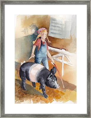 4h Series 3 Pig Tails Framed Print by Judi Nyerges