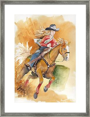 4h Series 4 Barrel Queen Framed Print by Judi Nyerges