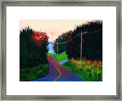4th Of July Sunset Framed Print by Laurie Breton