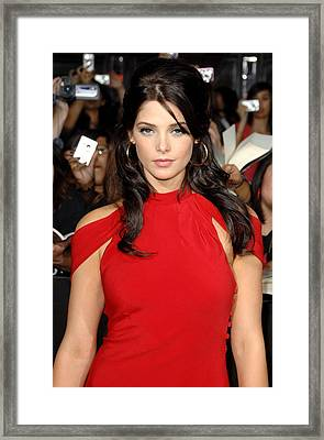 Ashley Greene At Arrivals For The Framed Print by Everett