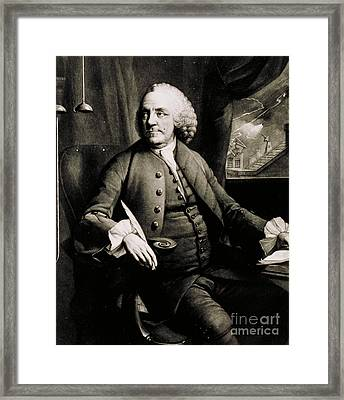 Benjamin Franklin, American Polymath Framed Print by Science Source