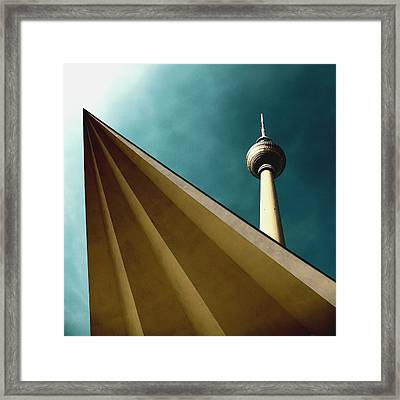 Berlin Tv Tower Framed Print by Falko Follert
