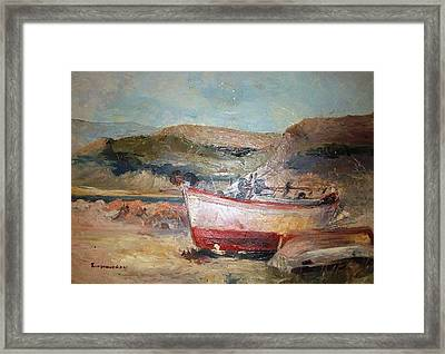 Boats Framed Print by George Siaba