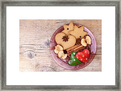 Christmas Gingerbread Framed Print by Nailia Schwarz