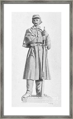 Civil War: Soldier Framed Print by Granger