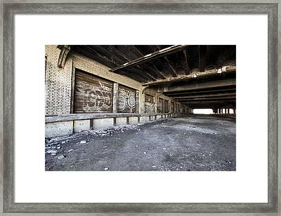 Detroit Abandoned Building Framed Print by Joe Gee