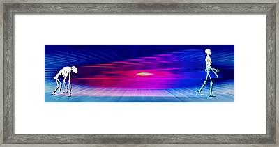 Human Evolution Framed Print by Pasieka