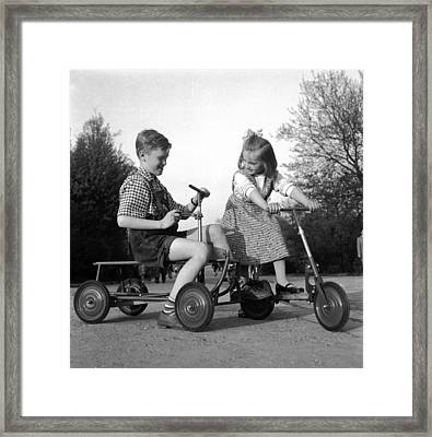 5 In 1 Scooter Framed Print by Hans Enzwieser