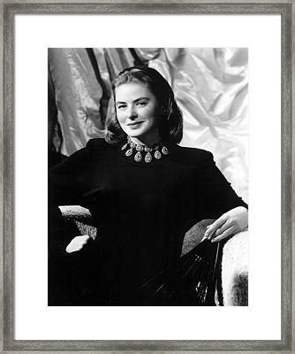 Ingrid Bergman, Portrait Framed Print by Everett