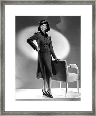 Lana Turner, Mgm, 1940s Framed Print by Everett