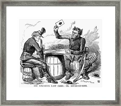 Lincoln Cartoon, 1862 Framed Print by Granger