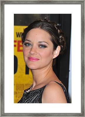 Marion Cotillard At Arrivals Framed Print by Everett