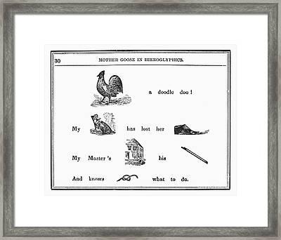 Mother Goose, 1849 Framed Print by Granger