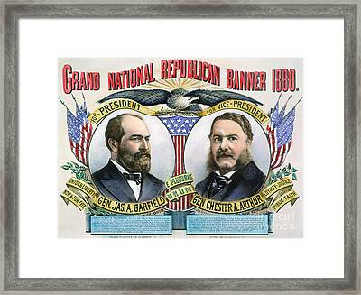 Presidential Campaign, 1880 Framed Print by Granger