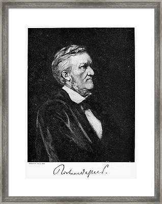 Richard Wagner (1813-1883) Framed Print by Granger