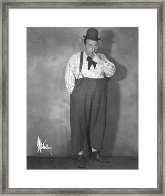 Roscoe Fatty Arbuckle Framed Print by Granger