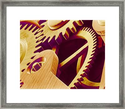 Watch Gears, Sem Framed Print by Susumu Nishinaga
