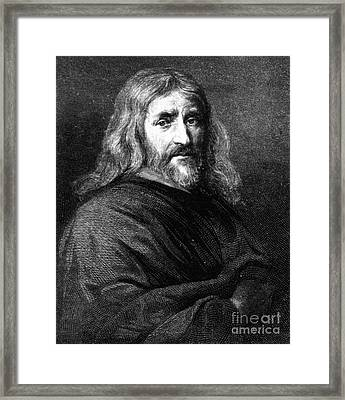 William Harvey, English Physician Framed Print by Science Source