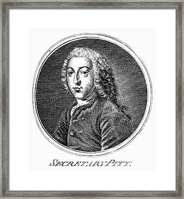 William Pitt (1708-1778) Framed Print by Granger