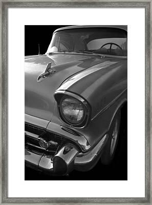 '57 Chevy Bel Air Framed Print by Debra and Dave Vanderlaan