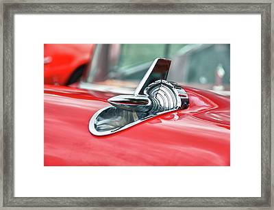 57 Chevy Hood Ornament 8509 Framed Print by Guy Whiteley