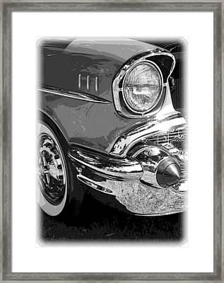 57 Chevy  Framed Print by Steve McKinzie
