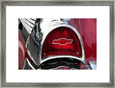 57 Chevy Tail Light Framed Print by Paul Ward